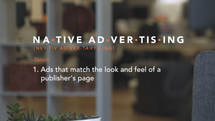 Native Advertising Definition