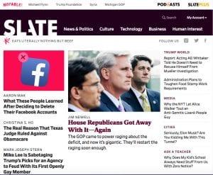 Slate Magazine's 2018 Redesign